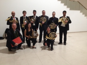 Visiting Hornclass in Esphinho, and performing Anders Emilsson´s double concerto with Bernardo Silva